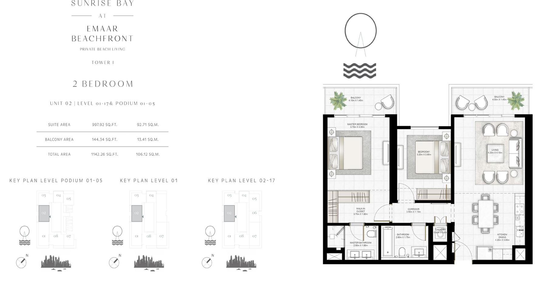 Sunsrise Bay By Emaar - Floor Plan